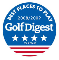 """Best Places to Play"" Badge GolfDigest 2008-09"